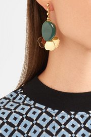 Marni Gold-tone resin earrings
