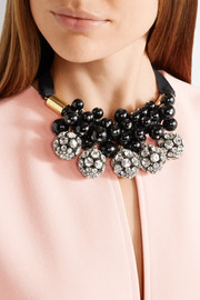 Marni Gold-plated, crystal and resin necklace