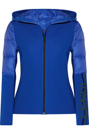 Fendi Roma stretch-jersey and quilted shell down jacket