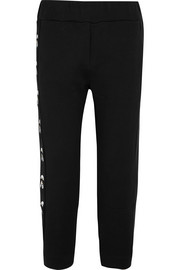 Fendi Karlito embroidered printed cotton-jersey track pants