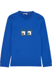 Appliquéd cotton-jersey sweatshirt