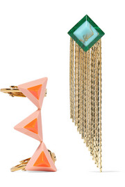 Fendi Gold-tone stone earrings