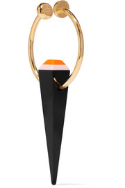 Fendi Gold-tone acrylic ear cuff