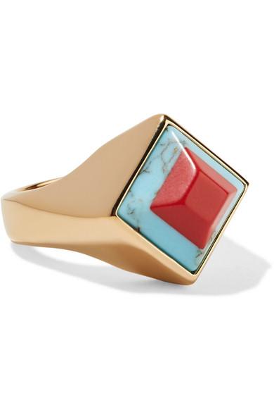 Fendi - Gold-tone Resin Ring - xx small