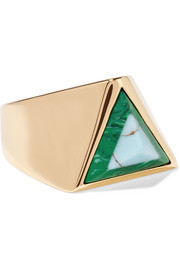 Fendi Gold-tone stone ring