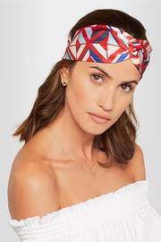Fendi Printed silk-twill headband