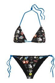 Fendi Printed triangle bikini