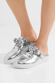 Sophia Webster Lilico Jessie appliquéd metallic leather sneakers