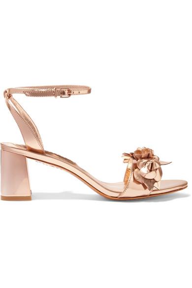 9ff76738eaee Sophia Webster. Lilico appliquéd metallic leather sandals