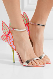Sophia Webster Chiara metallic patent-leather sandals