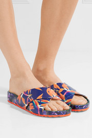 Sophia Webster Phoebe printed leather slides
