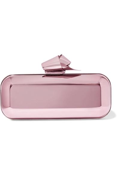 Jimmy Choo - Cloud Tube Mirrored Metal Clutch - Pink