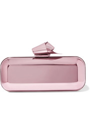 Jimmy Choo Cloud Tube mirrored metal clutch
