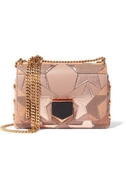 Jimmy Choo Lockett Petite patchwork suede, leather and elaphe shoulder bag