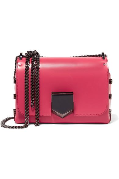 jimmy choo female jimmy choo lockett petite leather shoulder bag pink