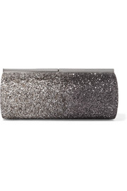 Jimmy Choo Trinket glittered satin clutch