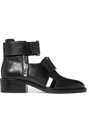 Addis buckled leather ankle boots