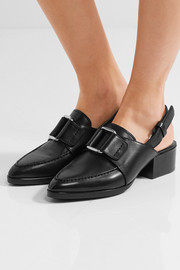 3.1 Phillip Lim Quinn buckled leather slingback loafers