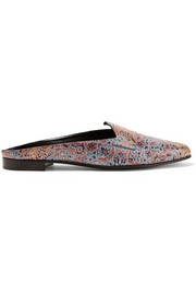 Jacno printed leather slippers