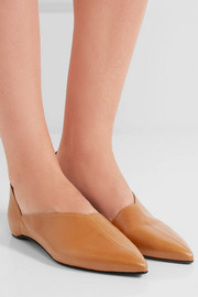 Mirage leather point-toe flats
