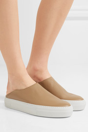 Charlie leather slip-on sneakers