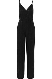 Porsha beaded crepe jumpsuit