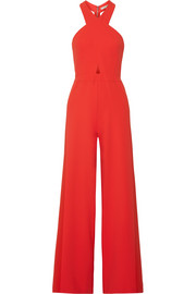 Trinity cutout stretch-crepe jumpsuit