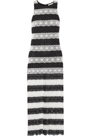 Lucia striped crocheted maxi dress