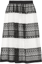 Alice + Olivia Birdie crocheted lace skirt