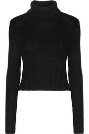 Alice + Olivia Sierra ribbed stretch-knit turtleneck sweater