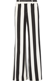 Paulette striped stretch-crepe wide-leg pants
