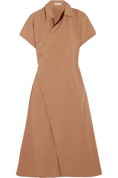 Tomas Maier - Cotton-blend Poplin Wrap Dress - Camel