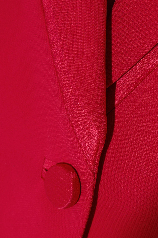 Versace Satin-trimmed crepe blazer
