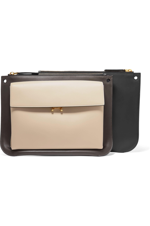 Marni Pocket Bandoleer leather shoulder bag