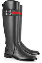 Gucci Two-in-one leather boots