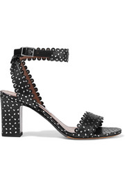 Leticia studded perforated  leather sandals