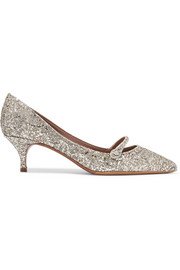 Layton glittered leather pumps