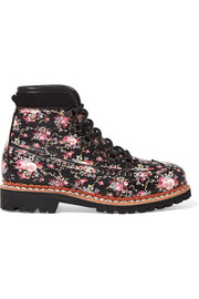 Bexley floral-print leather ankle boots