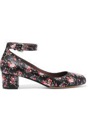 Martha floral-print leather pumps