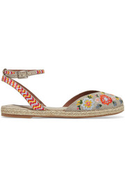 Dotty Festival embroidered canvas espadrilles