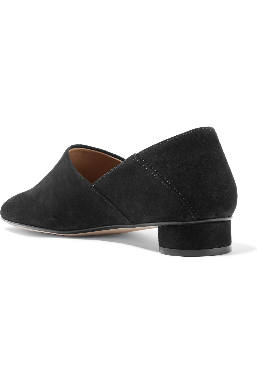 The Row Noelle 折叠式后跟绒面革乐福鞋