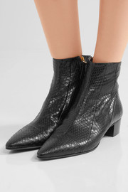 The Row Ambra elaphe ankle boots