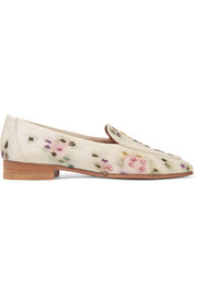 Adam embroidered raffia loafers