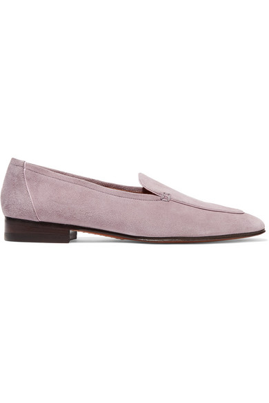 The Row. Adam suede loafers
