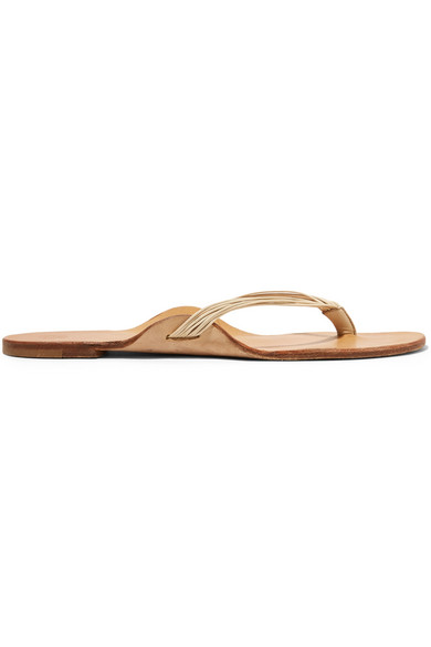 The Row Leathers CASABLANCA LEATHER SANDALS