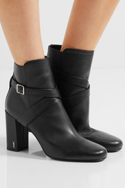 Saint Laurent Babies buckled leather ankle boots