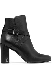 Babies buckled leather ankle boots