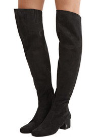 Saint Laurent Babies suede over-the-knee boots