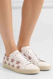 Court Classic appliquéd leather sneakers