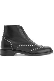 Lolita studded leather ankle boots